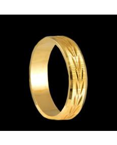 Alianças de Ouro 18k Trabalhadas Casamento 5 mm