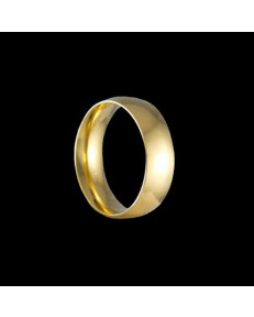 Alianças de Ouro 18k Grossas Tradicionais Anatômicas 6,4 mm