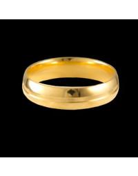 Alianças de Prata Anatômicas com Vincos Banhadas a Ouro 18k 5 mm