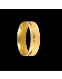 Alianças de Ouro 18k Anatômicas Diamantadas 6 mm