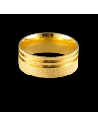 Alianças de Ouro 18k Grossas Anatômicas Diamantadas 8 mm