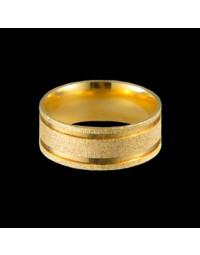 Alianças de Casamento Grossas de Ouro 18k Diamantada 8 mm