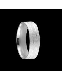 Alianças de Prata 950 Anatômicas Diamantadas 6 mm