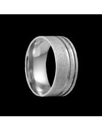 Alianças de Prata 950 Grossas Anatômicas Diamantadas 8 mm