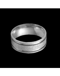 Alianças de Prata 950 Grandes Diamantadas 8 mm