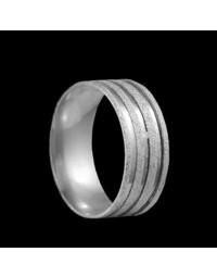 Alianças de Prata 950 Grossas Anatômicas Diamantadas 8,2 mm