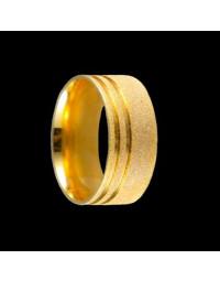 Alianças de Prata 950 Grossas Diamantadas 9,2 mm Banhadas a Ouro 18k