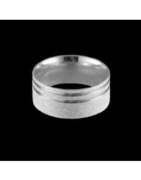 Alianças de Prata 950 Grossas Anatômicas Diamantadas 9,5 mm