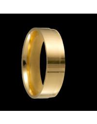 Alianças de Prata Anatômicas 6mm Banhadas a Ouro 18k