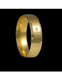 Alianças de Ouro 18k Chanfradas Anatômicas 6 mm
