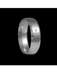 Alianças de Prata 950 Anatômicas Chanfradas 6 mm