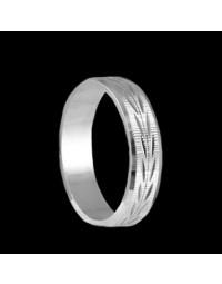 Alianças de Prata 950 Detalhadas 5 mm