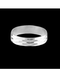 Alianças de Prata Anatômicas 950 Trabalhadas 5 mm