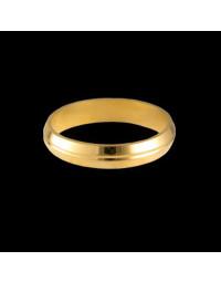 Alianças de Prata com Vincos Banhadas a Ouro 18k 4 mm