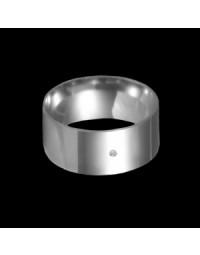 Alianças de Prata 950 Anatômicas Grossas 9 mm