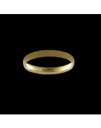 Alianças de Ouro 18k Finas Tradicionais Anatômicas 2,6 mm