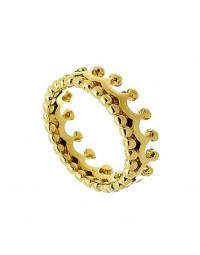 Anel de Coroa Falange Banhado a Ouro 18k (Tam 10)