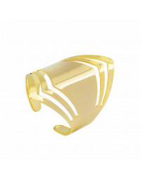 Anel Folheado a Ouro 18k Regulável Escudo