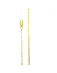 Corrente Folheada a Ouro 18k Feminina Palito 45 cm