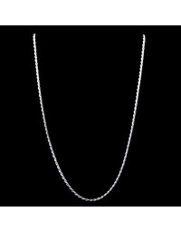 Corrente de Prata Masculina Corda 60 cm 1,5 mm