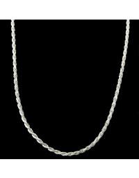 Corrente de Prata Masculina Grossa Corda 60 cm 5,0 mm