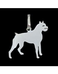 Pingente de Cachorro Boxer em Prata 950