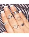 Anel de Coração em Prata Feminino - Joia em Prata 925