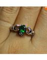 Anel de Prata Anel Claddagh em Prata com Coração de Zircônia  – Jóias de Prata