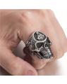 Anel Masculino de Caveira Skull de Aço - Joias Masculinas