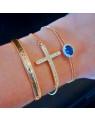 Bracelete Regulavel Banhado a Ouro - Bracelete Dourado Semijoia