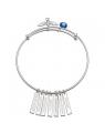 Bracelete Feminino em Prata Pura 7 Dons Espírito Santo