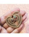 Brincos de Asas Dourados com Zirconias Banhados a Ouro 18k - Brincos de Festa - Semijóia de Luxo